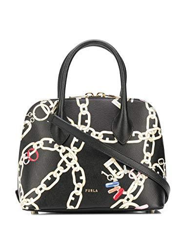 Luxury Fashion | Furla Dames 1065951 Zwart Leer Handtassen | Lente-zomer 20