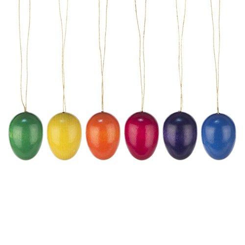 Behang - Ostereier einfarbig glänzend 6-teilig - Dregeno Erzgebirgische Holzkunst - Artikel 224/312
