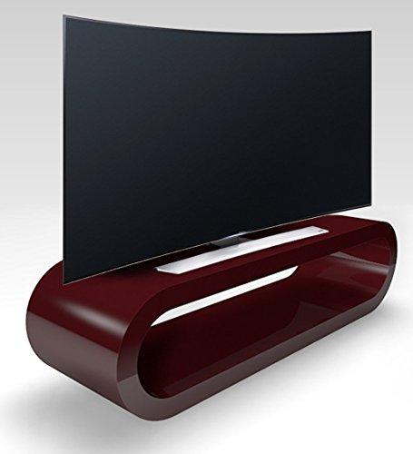 Zespoke Cerceau de Style Rétro Grand Bourgogne Haute Brillance Meuble TV/Armoire 110cm