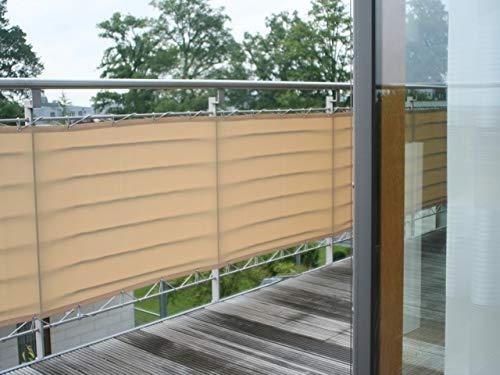 Floracord 12-90-50-14 HDPE Balkon Umrandung 0,9 x 5 m//con Accessori Pronto Grigio//Antracite