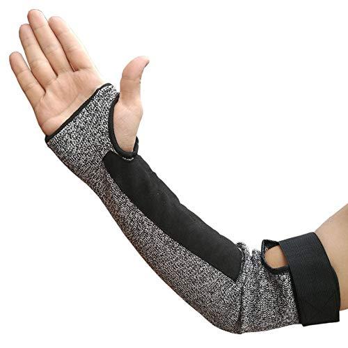 NBWS - Mangas anticortadas de acero inoxidable sin hueso de alambre resistente a los cortes de brazos, guantes de protección para el brazo al aire libre