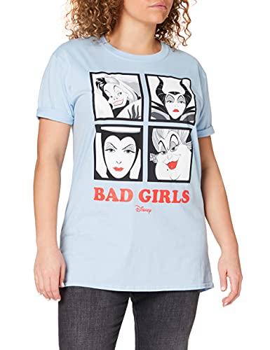 Disney Bad Girls Camiseta, Azul (Light Blue LTB), 44 para Mujer