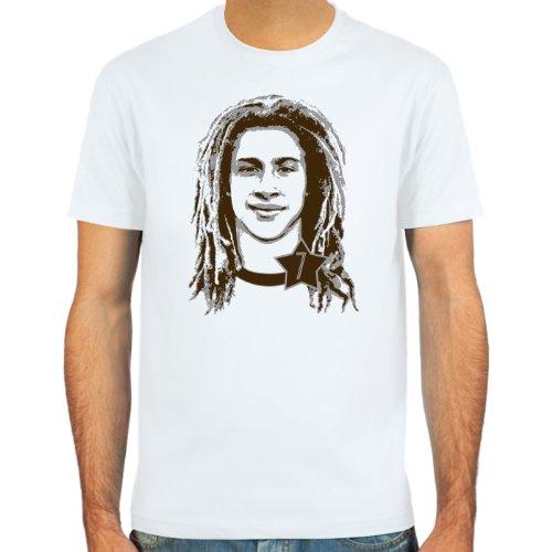 SpielRaum Camiseta Henrik Larsson ::: Color: Azul Claro, Beige o Blanco ::: Tallas: S-XXL (Fútbol)