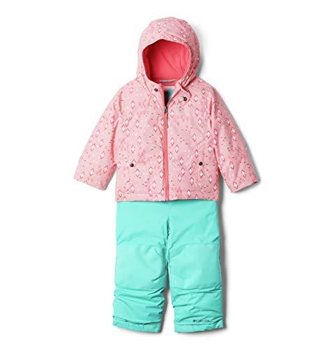 Columbia Frosty Slope Set Traje para Nieve, Pink Orchid Geo Sprinkles/Bright Geranm, 4 años para Bebés