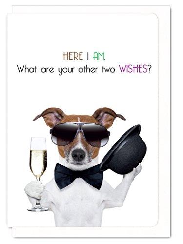 Tarjeta de felicitación graciosa con texto en inglés