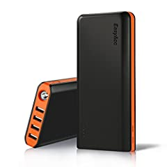 20000mAh High Capacity: Charge an iPhone 7 6 times, a Samsung S8 more than 4 times or an iPad Mini 3 2 times. Life Saver: Unique 2.1A Dual ports input (charger adapter not included), can be superfast recharged in 6 hours, reduce the recharging time u...