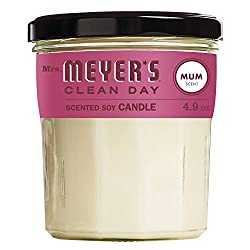 Mrs. Meyer's Clean Day Scented Soy Aromatherapy Candle, 35 Hour Burn Time, Made with Soy Wax, Mum Sc