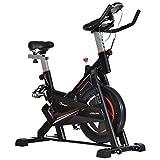 benzoni Cyclette per Allenamento Cardio Trainer con Monitor LCD Nera