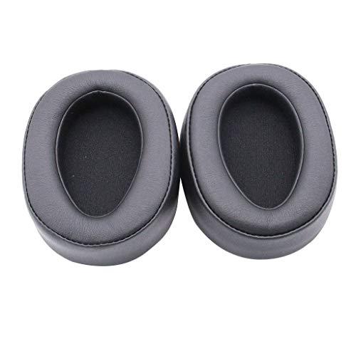 Colorful 1 Paar Ersatz Ohrpolster für Sony MDR-100ABN High-Resolution Kopfhörer,Ersatzohrpolster für Sony MDR-100ABN / WH-H900N High-Resolution Kopfhörer (Schwarz)