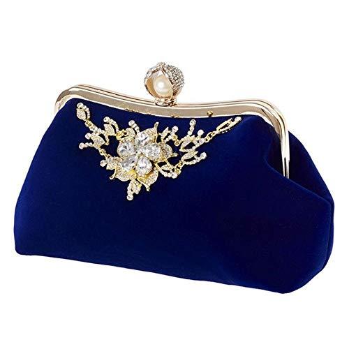 Umhängetasche Damen Clutch Mode Frauen Handtasche Abendparty Braut Clutch Umhängetasche Prom Hochzeit Brieftasche Geldbörse Blau