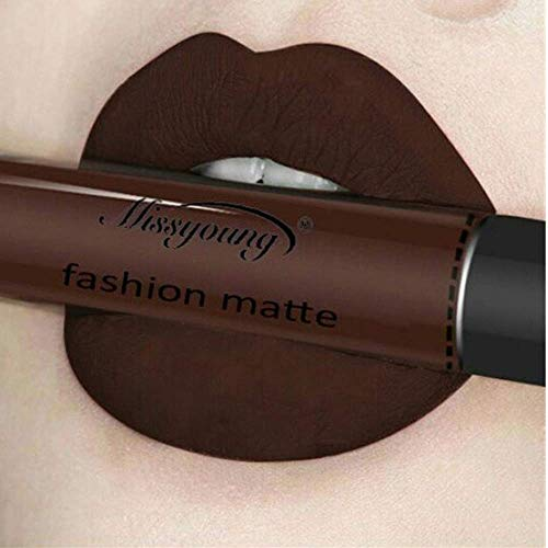 Pintalabios Mate Larga Duracion Labial de Maquillaje Profesional 12 Colores para Niñas por ESAILQ