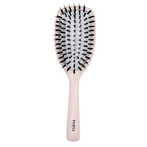 PARSA Beauty Pflegebürste Organic vegane Haarbürste groß oval in beige