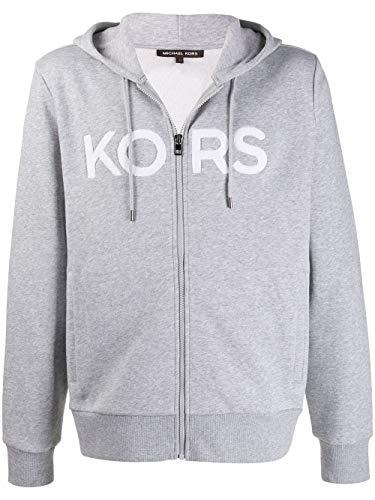 Michael Kors Terry - Sudadera con capucha y cremallera, color gris Gris gris S