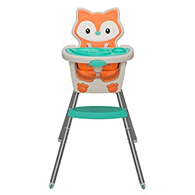 Infantino 4-in-1 Highchair, Space-Saver, Multi-Stage Booster & Toddler Chair with Multi-Use, Dishwasher Safe, Meal Mat (Fox)