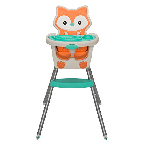 Infantino Grow-with-Me 4-in-1 Convertible High Chair, Orange