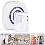 Wireless Motion Sensor Alarm Home Security Doorbell Alarm Alert System Wireless Remote Home and Commercial Smart Battery-operated Electronic Doorbell European Standard