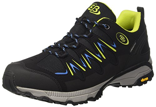 Brütting Expedition Walkingschuhe Unisex, Schwarz/ Lemon/ Blau, 42 EU
