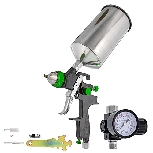 TCP Global Professional Gravity Feed HVLP Spray Gun with a 2.0mm Fluid Tip,...