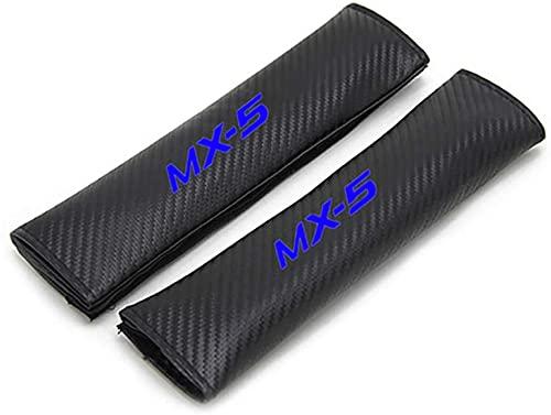 2pcs Car Seat Belt Pads for Maz-Da MX-5 Mx5 MX5,Carbon Fibre Seat Belt Shoulder Cover Cushion, Comfort Car Harness Pads with, Shoulder Strap Pad,Travel Cushion Car Seat Belt Cover