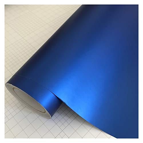 Just like 10/20 / 30/40 / 50x152cm Adhesivo Mate Negro Satinado Metálico Viny Film Coche Lámina Vehículo Etiqueta engomada de Coche Envolver Air (Color Name : Blue, Size : 50cm x 152cm)