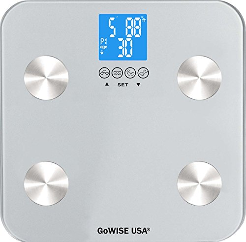 GoWISE USA Digital Body Fat Scale - FDA Approved - Measures Weight, Body Fat,...