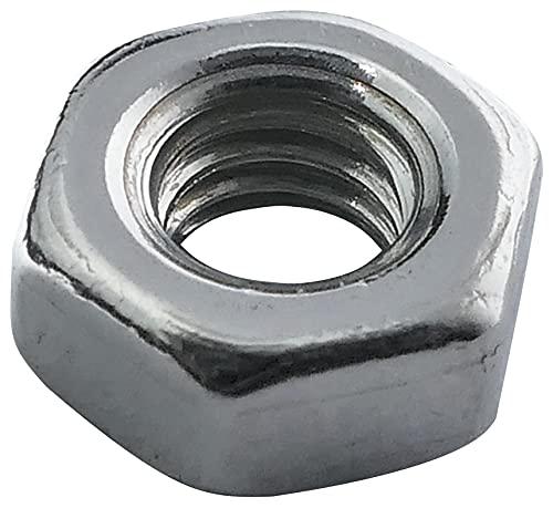 Aerzetix: 100x écrou héxagonal M3 5.5mm H2.4mm DIN934 Acier INOX A2 C19152