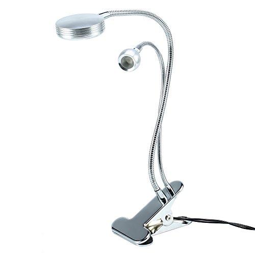 Brrnoo Lampe de Tatouage, lumière de Maquillage à Anneau LED réglable 3W USB avec Base de Serrage, lumières LED sans Ombre Professionnelles pour Nail