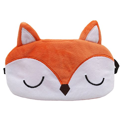 HENGSONG Nette Tiere Schlafmaske Augenmaske Reisen Schlaf Beihilfen (Fuchs)