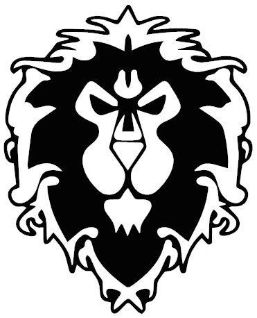 1st-Class-Designs Aufkleber Alliance World of Warcraft Horde, 12,7 x 10,2 cm, jede Farbe, lustiger Stoßstangen-Aufkleber für Wohnwagen, Wohnmobil, Laptop, Auto, Van, hergestellt in Yorkshire