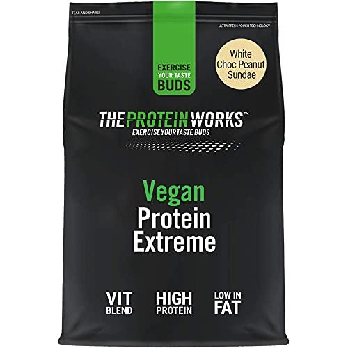 Proteína vegana Extreme en polvo | 100% a base de plantas y natural | Sin gluten, cero crueldad | Batido bajo en grasas | Funciona la proteína Choc Peanut Sundae | 500 g