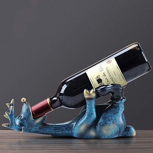 Resina Europea Borracha Ciervo Vino Estante Salón Oficina Botella de Vino Estante Decoración Decoración Moderno Vino Titular Artesanías Arte
