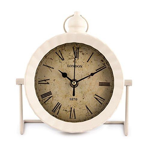 Pajoma Reloj de pie London en Blanco, 18 x 6,7 x 20 cm