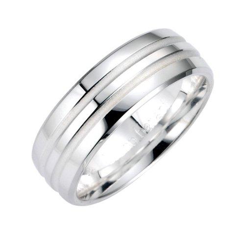 Bruno Banani Unisex-Ring 925 Sterlingsilber Gr. 62 49/91010