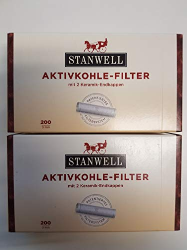 Stanwell, filtri per pipa ai carboni attivi da 9mm, confezione da 200filtri