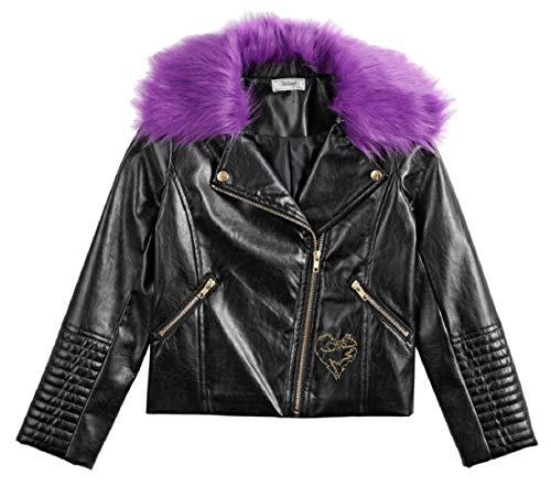 Disney Descendants Girls 7-16 Moto Jacket (Mal Moto, Large)