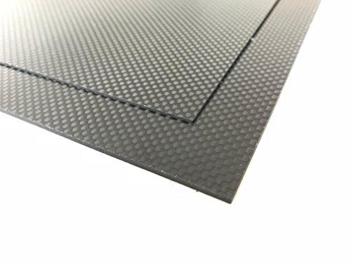 1,0 mm CF- epoxy plaat HT Carbon plaat/CFK koolstofvezel formaat ca. 520 x 260 mm geschikt voor modelbouw
