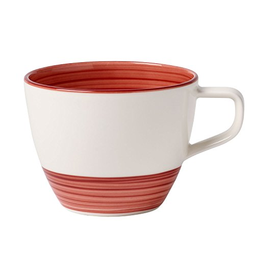 Villeroy & Boch Manufacture Rouge Tasse à café, 250 ml, Porcelaine Premium, Rouge
