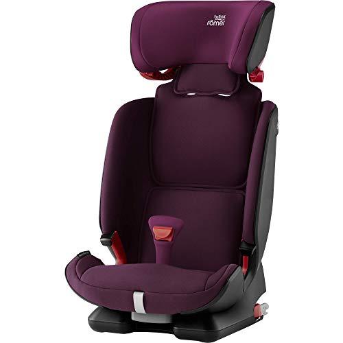Britax Römer Kindersitz 9 Monate - 12 Jahre I 9 - 36 kg I ADVANSAFIX IV M Autositz Isofix Gruppe 1/2/3 I Burgundy Red