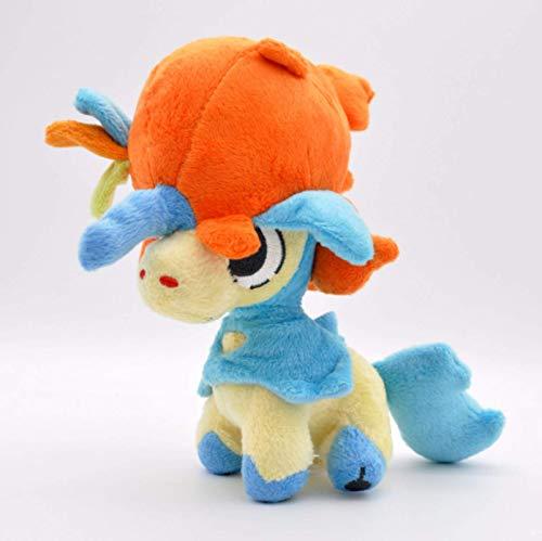Juego de Anime Pokemon Series Cute Rare Elf Peluche Doll Cumpleaños Juguete 18 cm, Niños Azul Cumpleaños Laimi