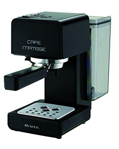 Ariete 1363/10 Matisse - Cafetera de espresso, 900 W, 0.8 l, 15 bares de presión, función de espera, color negro