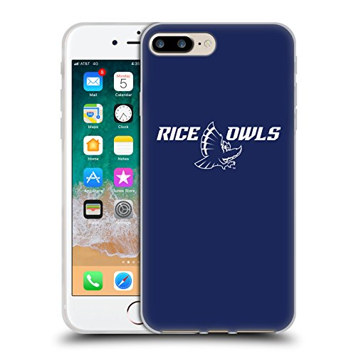 Head Case Designs Licenciado Oficialmente Rice University Logotipo Carcasa de Gel de Silicona Compatible con Apple iPhone 7 Plus/iPhone 8 Plus