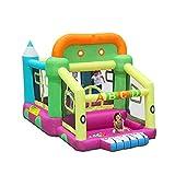 Spielplatz Fitnessgeräte Trampolin, Hüpfburg der Heimkinder, Spielzeug für Zuhause, Rutschen, Parkwasserpark (Color : Color, Size : 225 * 350 * 220cm)