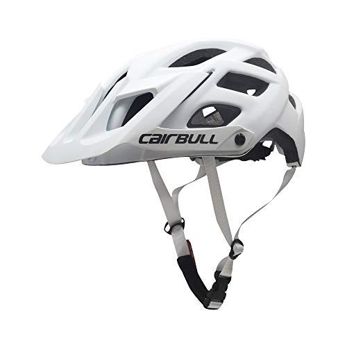 Leeworks - Casco da bicicletta da uomo, per adulti, in 6 colori, ultraleggero, da strada, per mountain bike, ciclismo, colore: bianco perlato