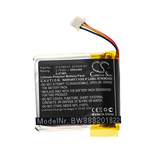 vhbw batería reemplaza Plantronics 203055-01, 208769-01, 208769-02 para Auriculares inalámbricos Cascos (650mAh, 3,7V, polímero de Litio)