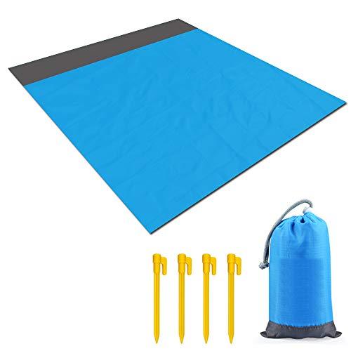 BIFY Picknickdecke Größen M & L, Stranddecke wasserdichte, Sandabweisende Campingdecke(L) …