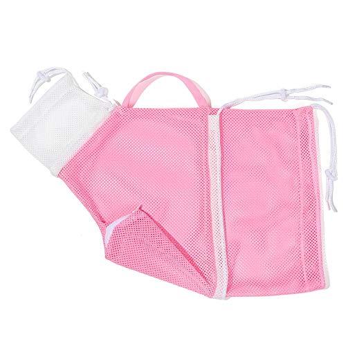 Timegoing Katzenbadetasche, verstellbar, multifunktional, Netz, Katzen-Duschnetz, Tasche, Katzen-Pflegetasche, Saubere Tasche, Anti-Kratz-Biss-Fesselung, Katzenzubehör (rosa)