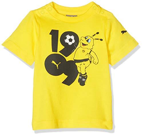 PUMA Kinder T-Shirt BVB Minicats Graphic, Cyber Yellow, 68, 756227