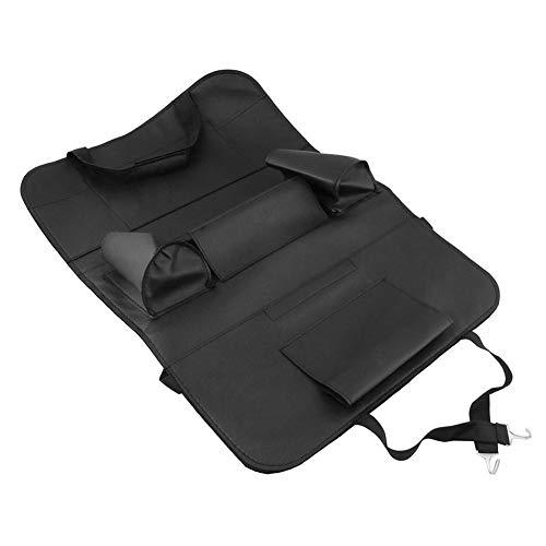 Xeroy Car Rear Seat Organizer, PU Leather Car Organizer, Tablet Holder, Car Back Seat Organizer for Phones, Handkerchiefs Box
