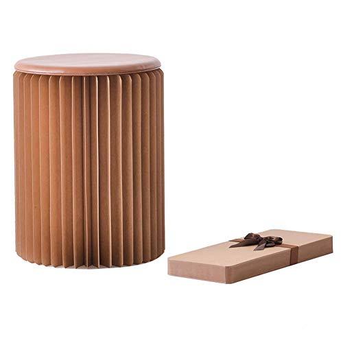 YLCJ kruk van papier, opvouwbaar, multifunctioneel, creatieve mode, voor bank, kaptafel, barkruk, barkruk, kleur: bruin, maat: 30 x 28 cm 30 * 28cm Bruin