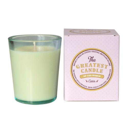 The Greatest Candle in the World TG150CA Kerze Cassis in Recycling-Glas, pflanzliches Wachs